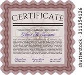 certificate of achievement... | Shutterstock .eps vector #311354126