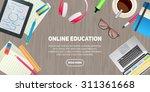 flat design illustration... | Shutterstock .eps vector #311361668