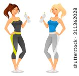fit young woman in sportswear | Shutterstock .eps vector #311362028