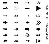 set icons arrows | Shutterstock . vector #311372042