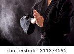 Closeup Of Male Karate Fighter...