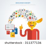 creative concept of education.... | Shutterstock .eps vector #311377136