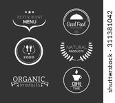 food and products emblems... | Shutterstock .eps vector #311381042