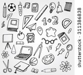 school stuff icons | Shutterstock .eps vector #311386838