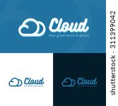 colorful cloud logo design in... | Shutterstock .eps vector #311399042