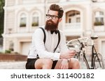 enjoying city life. low angle... | Shutterstock . vector #311400182