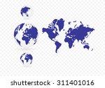 vector of world map | Shutterstock .eps vector #311401016
