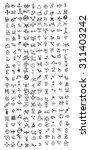 occult symbols | Shutterstock .eps vector #311403242