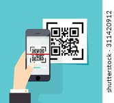 scan qr code  to mobile phone.... | Shutterstock .eps vector #311420912