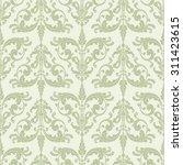 wallpaper in baroque style.... | Shutterstock . vector #311423615