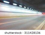city road tunnel of night scene | Shutterstock . vector #311428136