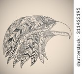 eagle in oriental tribal... | Shutterstock .eps vector #311432195