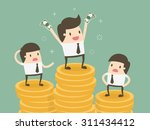 salary variation. business... | Shutterstock .eps vector #311434412