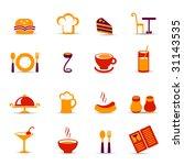 restaurant icons | Shutterstock .eps vector #31143535