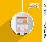byod digital design  vector... | Shutterstock .eps vector #311438042