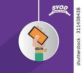 byod digital design  vector... | Shutterstock .eps vector #311438438