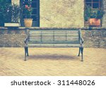 Bench With Flower Brick And...