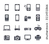 technology and devices icon on... | Shutterstock .eps vector #311451866