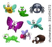 funny cartoon vector insects... | Shutterstock .eps vector #311454272