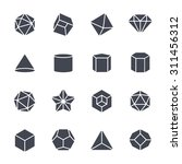geometric shapes icon on white... | Shutterstock .eps vector #311456312