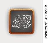 flower doodle | Shutterstock .eps vector #311456345