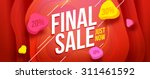 final sale banner design. sale... | Shutterstock .eps vector #311461592