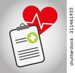health care digital design ... | Shutterstock .eps vector #311461955