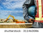 construction worker checking... | Shutterstock . vector #311463086