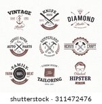 set of retro styled emblems.... | Shutterstock .eps vector #311472476