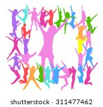 team achievement victory is... | Shutterstock .eps vector #311477462