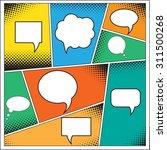 speech bubble in pop art style. ...   Shutterstock .eps vector #311500268