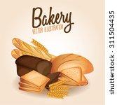cartoon fresh bread. vector... | Shutterstock .eps vector #311504435