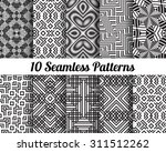 set of 10 abstract patterns.... | Shutterstock .eps vector #311512262