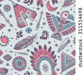 tribal vector seamless pattern... | Shutterstock .eps vector #311514698