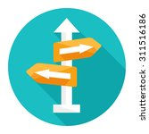 crossroad  direction  icon | Shutterstock .eps vector #311516186