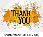 thank you word cloud in... | Shutterstock .eps vector #311517536