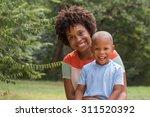 african american mom spending...   Shutterstock . vector #311520392