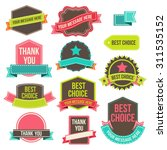 collection of labels and... | Shutterstock . vector #311535152