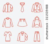 clothes icons  thin line style  ... | Shutterstock .eps vector #311535488