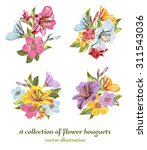a vector collection of flower... | Shutterstock .eps vector #311543036