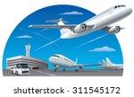 airport field | Shutterstock .eps vector #311545172