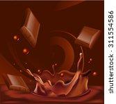 abstract chocolate splash... | Shutterstock .eps vector #311554586