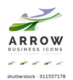 set of arrow logo business... | Shutterstock .eps vector #311557178