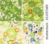 floral seamless pattern  set  ... | Shutterstock .eps vector #311557685