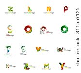 set of colorful abstract letter ... | Shutterstock . vector #311559125