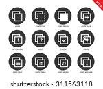 copy files vector icons set.... | Shutterstock .eps vector #311563118