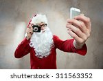 Hipster Santa Makes Selfy With...