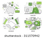 flat line illustration set of... | Shutterstock .eps vector #311570942