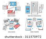 flat line illustration set of... | Shutterstock .eps vector #311570972