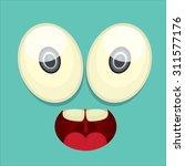 monster face vector illustration | Shutterstock .eps vector #311577176
